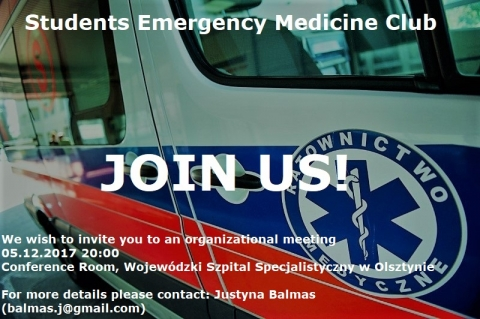 Meeting for candidates to the Emergency medicine Student Club